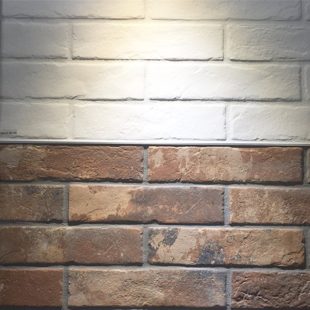 porcelain brick look tile