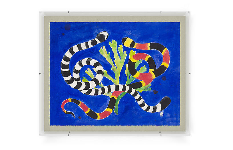 Cobalt Serpents by Laura Roebuck, via:  One Kings Lane