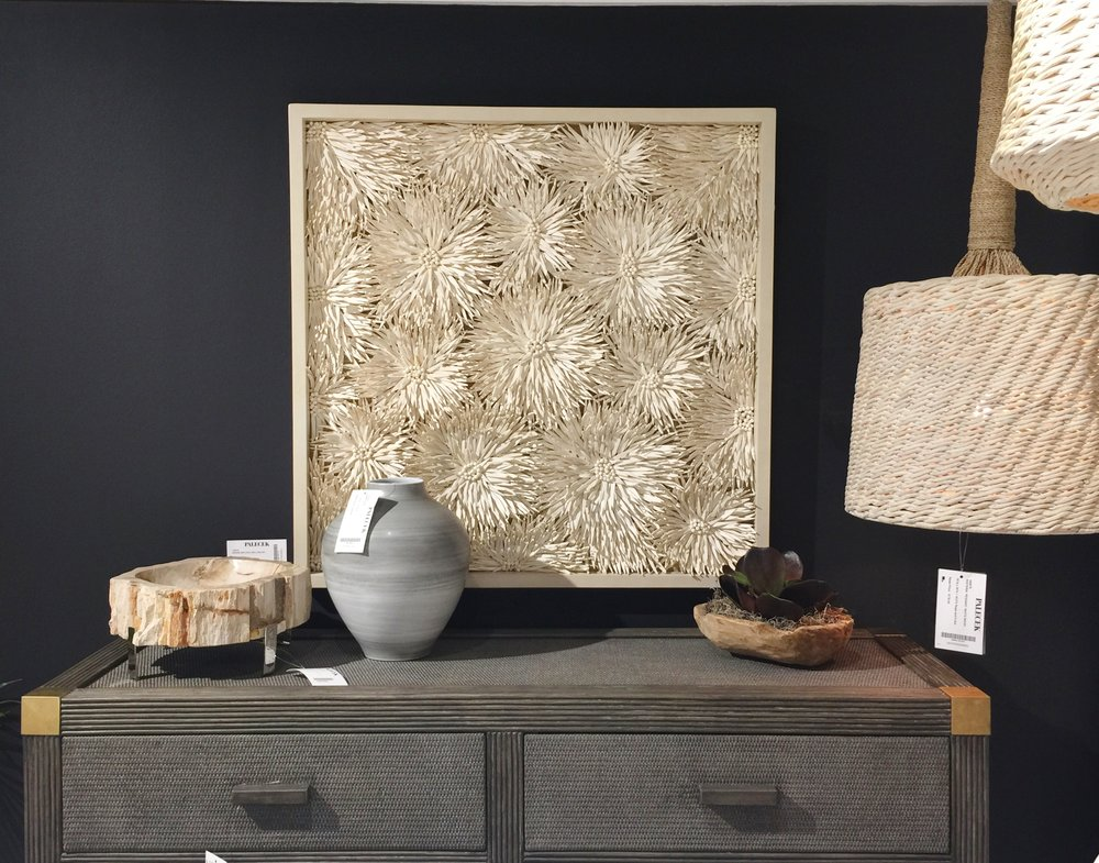 Palacek is known for it's textural, natural materials in home decor and furnishings
