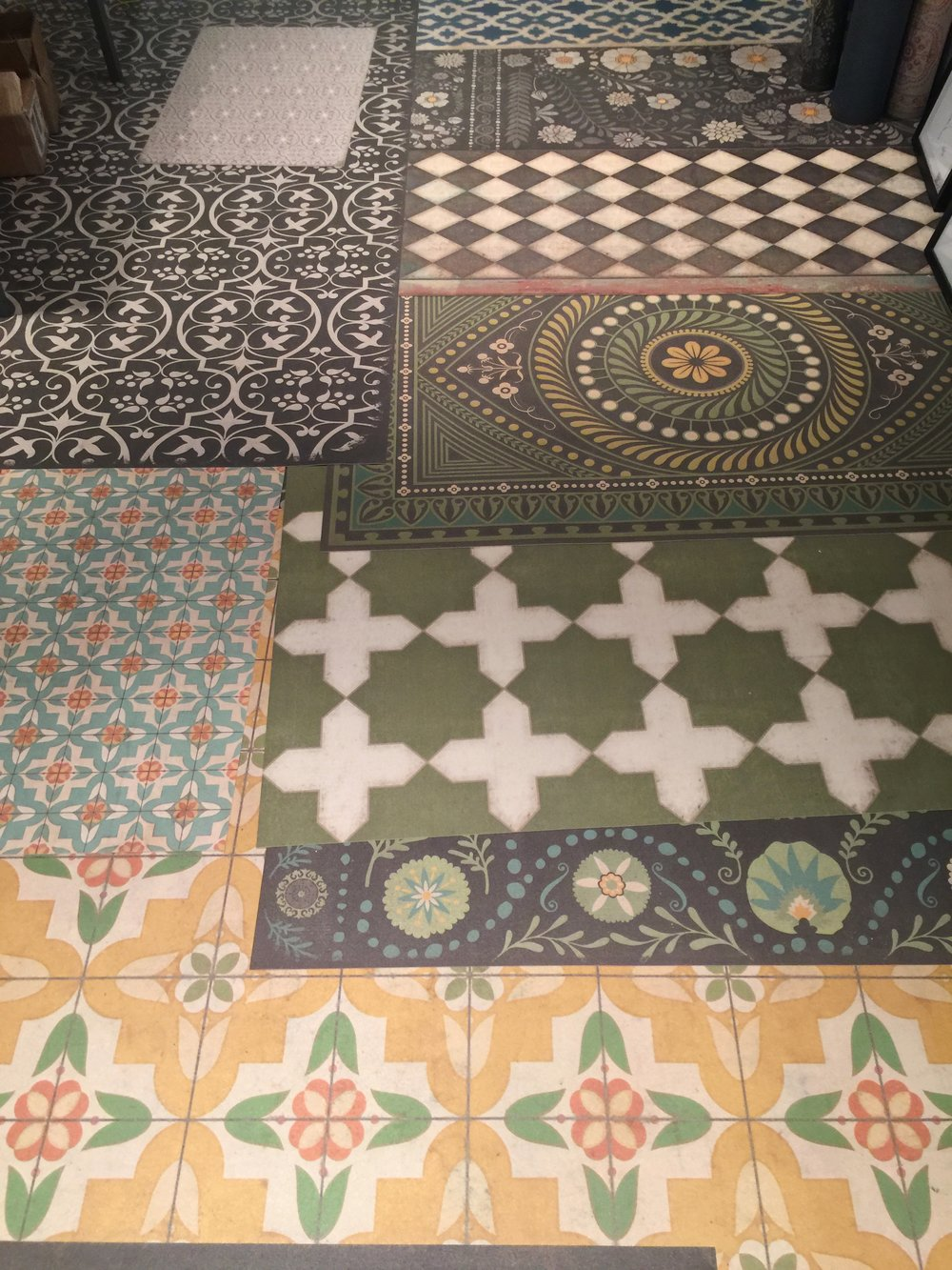 Spicher and Co. vinyl floor cloths