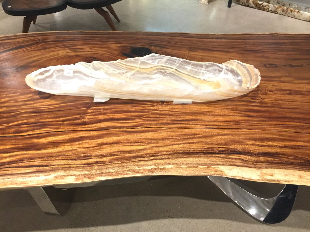 Beautiful live edge table top at Phillips Collection