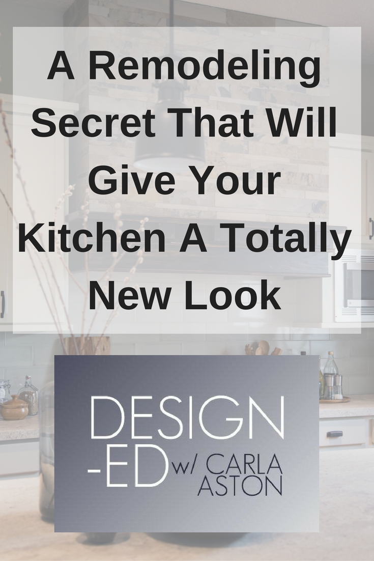 HInt - It's a tip about how to make a bigger impact on your kitchen remodel if you're just thinking of painting the cabinets.