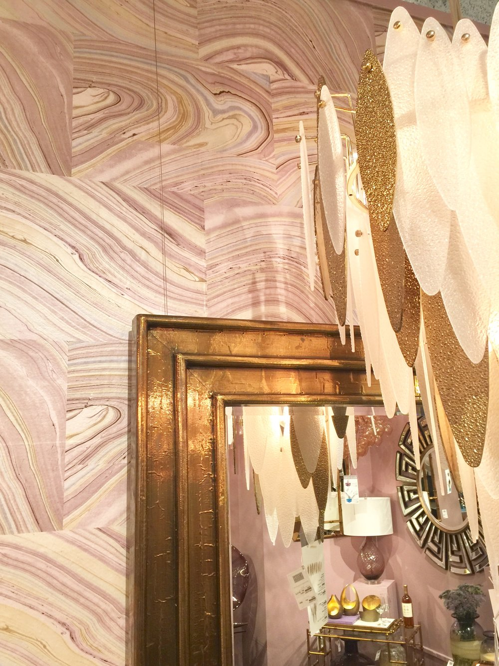Pretty gilding with millennial pink at Crestview Collection