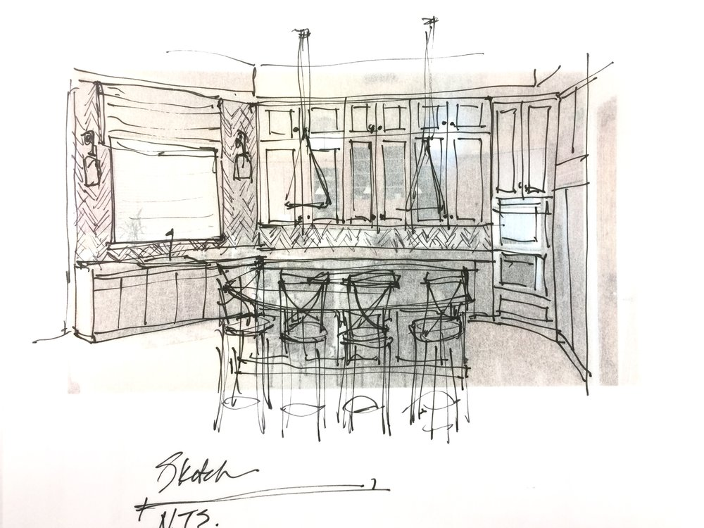 Kitchen remodel sketch