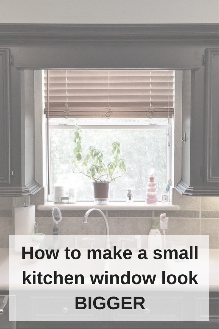 Those Pesky Little Kitchen Windows And How To Make Them Look Bigger