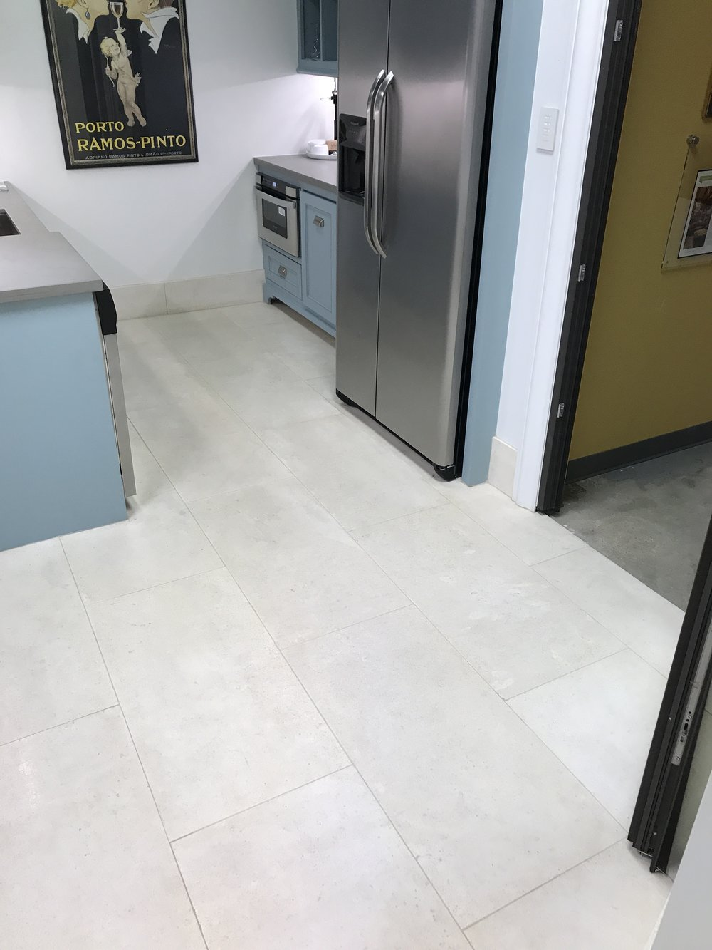 After steam cleaning and disinfection of natural stone flooring