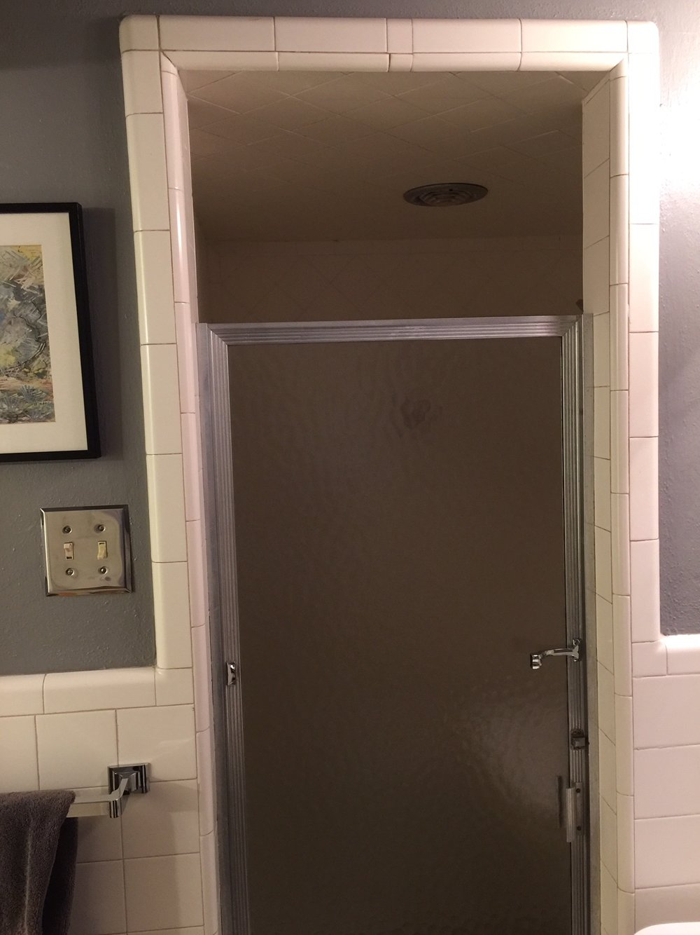 Unique Shower Before Remodel