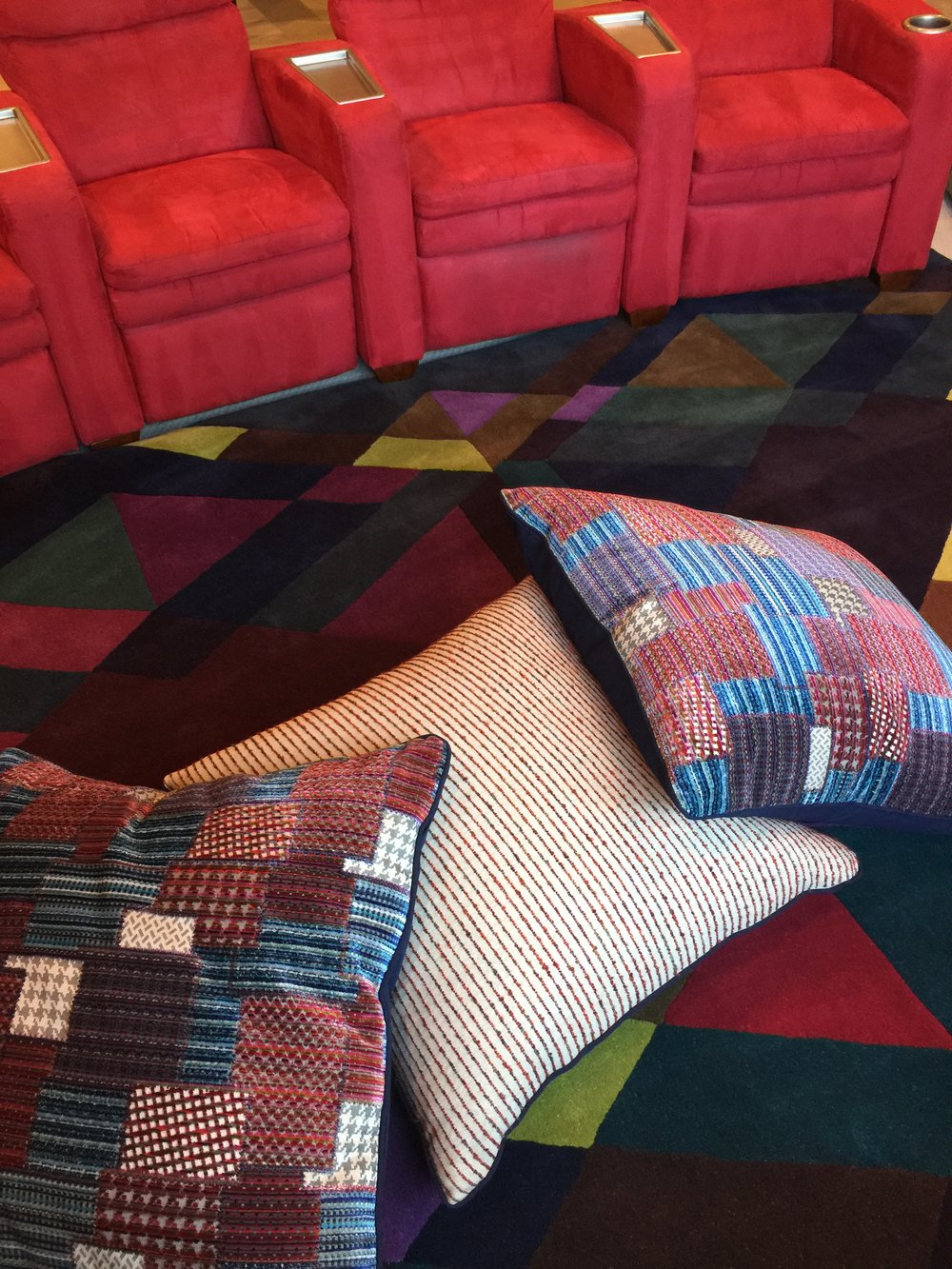Perfect Media room with floor pillows and theater seating Southern Living Showcase Home