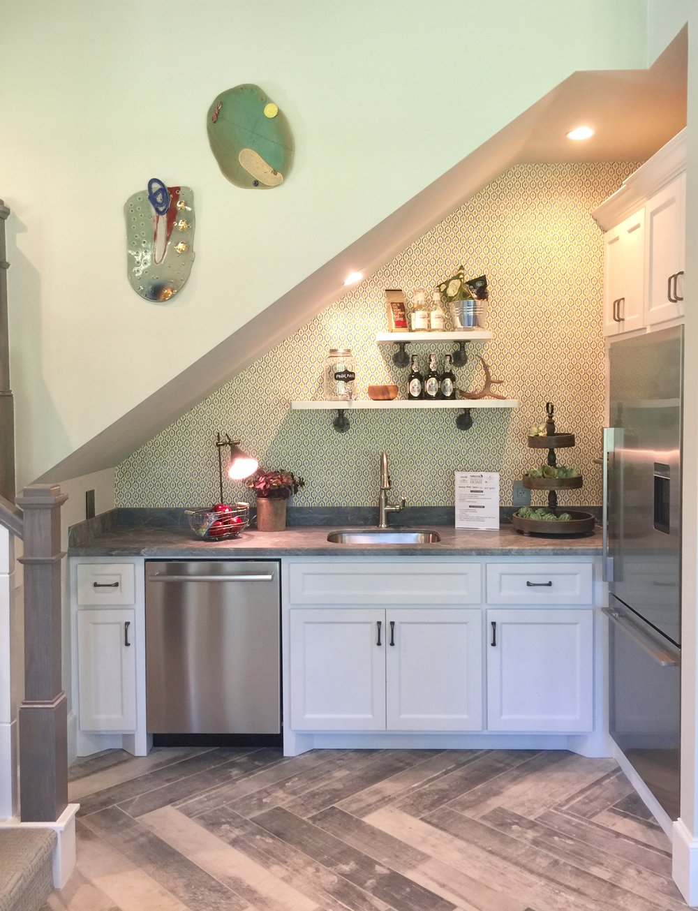 Guest House Kitchen under the stairs - Southern Living Showcase Home
