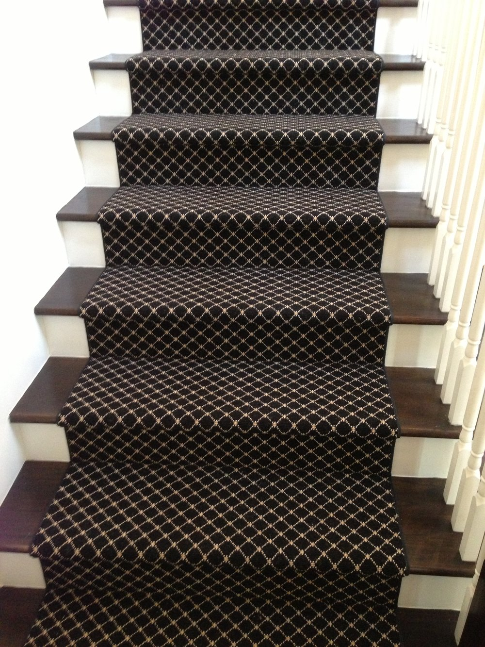 Carpet runner on stair - Designer Carla Aston #stairrunner