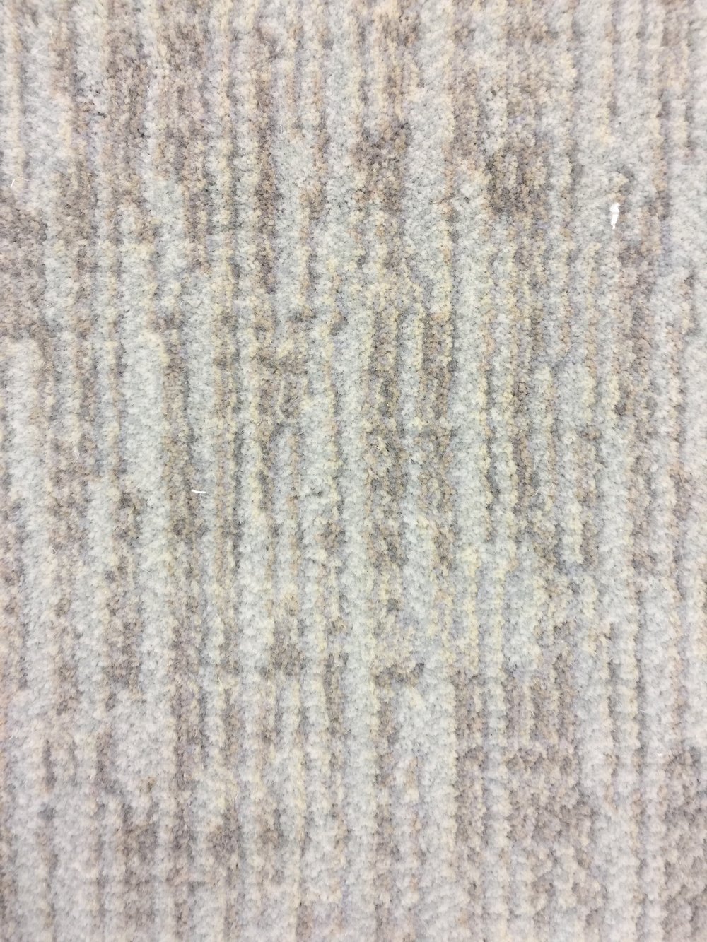 Proposed short, cut-pile carpet with cross-hatch pattern proposed for stair
