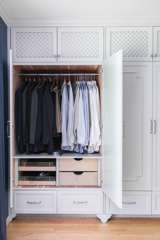 Cedar lined wardrobe style custom closet, Designer: Carla Aston