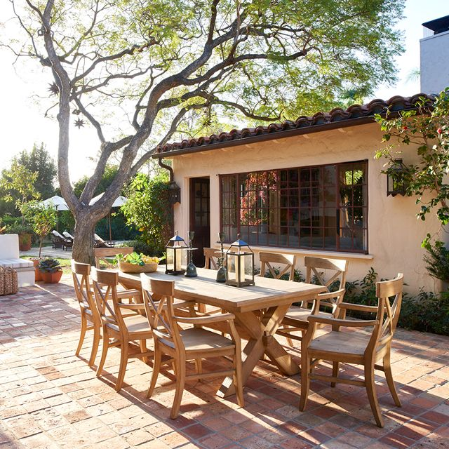Image of movie setting, Home Again, outdoor patio, via:  My Domaine