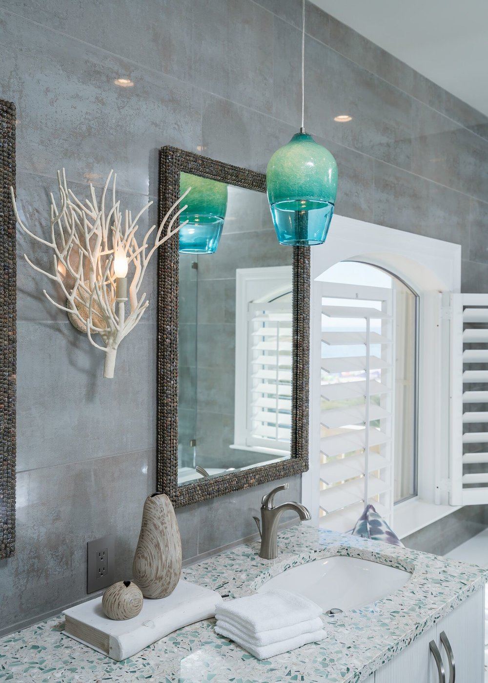 DESIGNER SPOTLIGHT - Cheryl Kees Clendenon, #vanity #bathroom #masterbath #vetrazzo #bathroomdesign