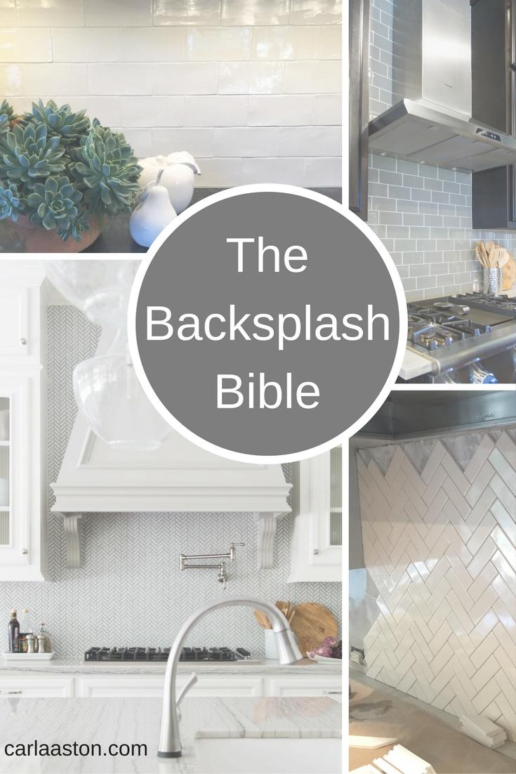 The Backsplash Bible - tips and advice for kitchen and bathroom backsplash design | how to end a backsplash #backsplash #kitchenbacksplash #tilebacksplash #backsplashdesign