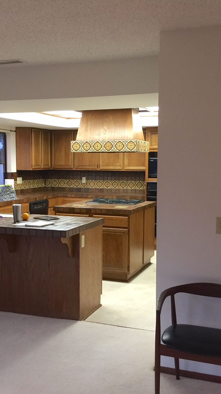 Kitchen to be remodeled
