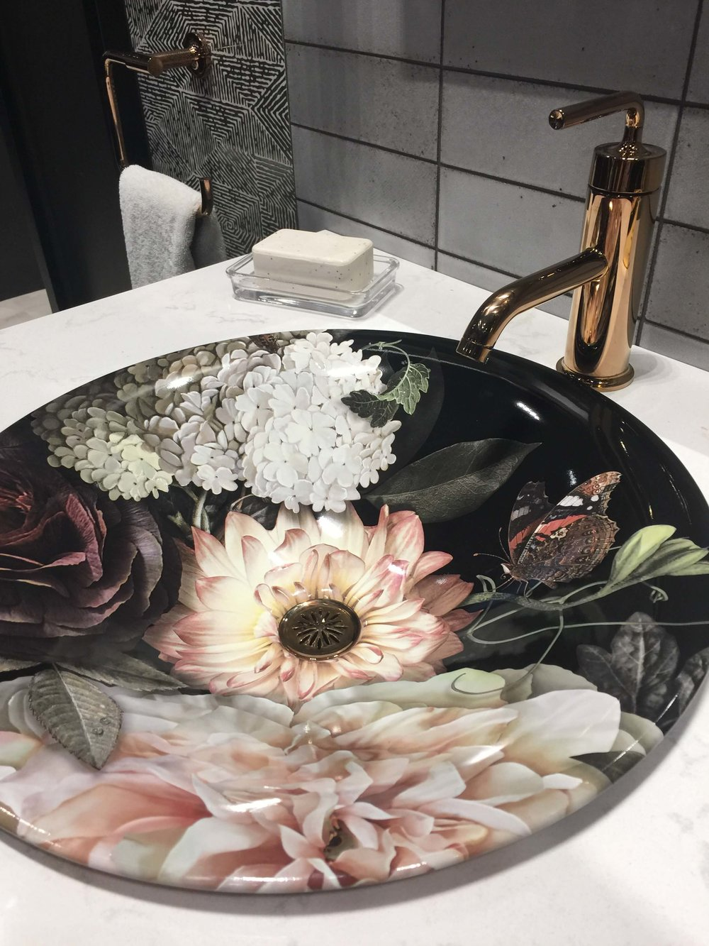 New floral sink design from Kohler #sink #kohlersink