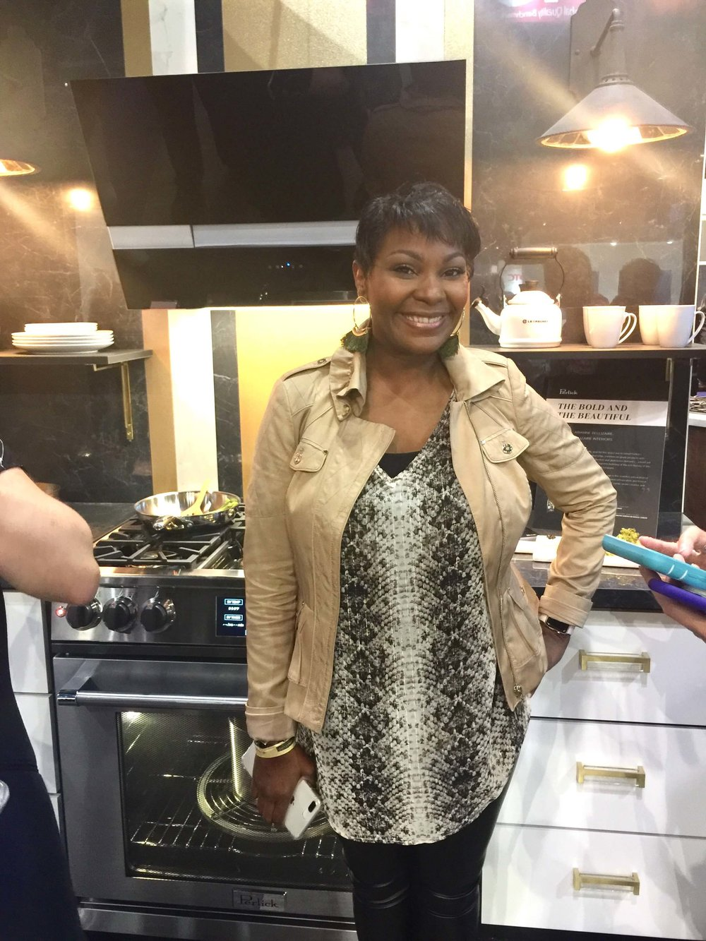 Arianne Bellizaire designed a gorgeous kitchen for the Perlick booth at KBIS2018 #perlick #kitchendesign