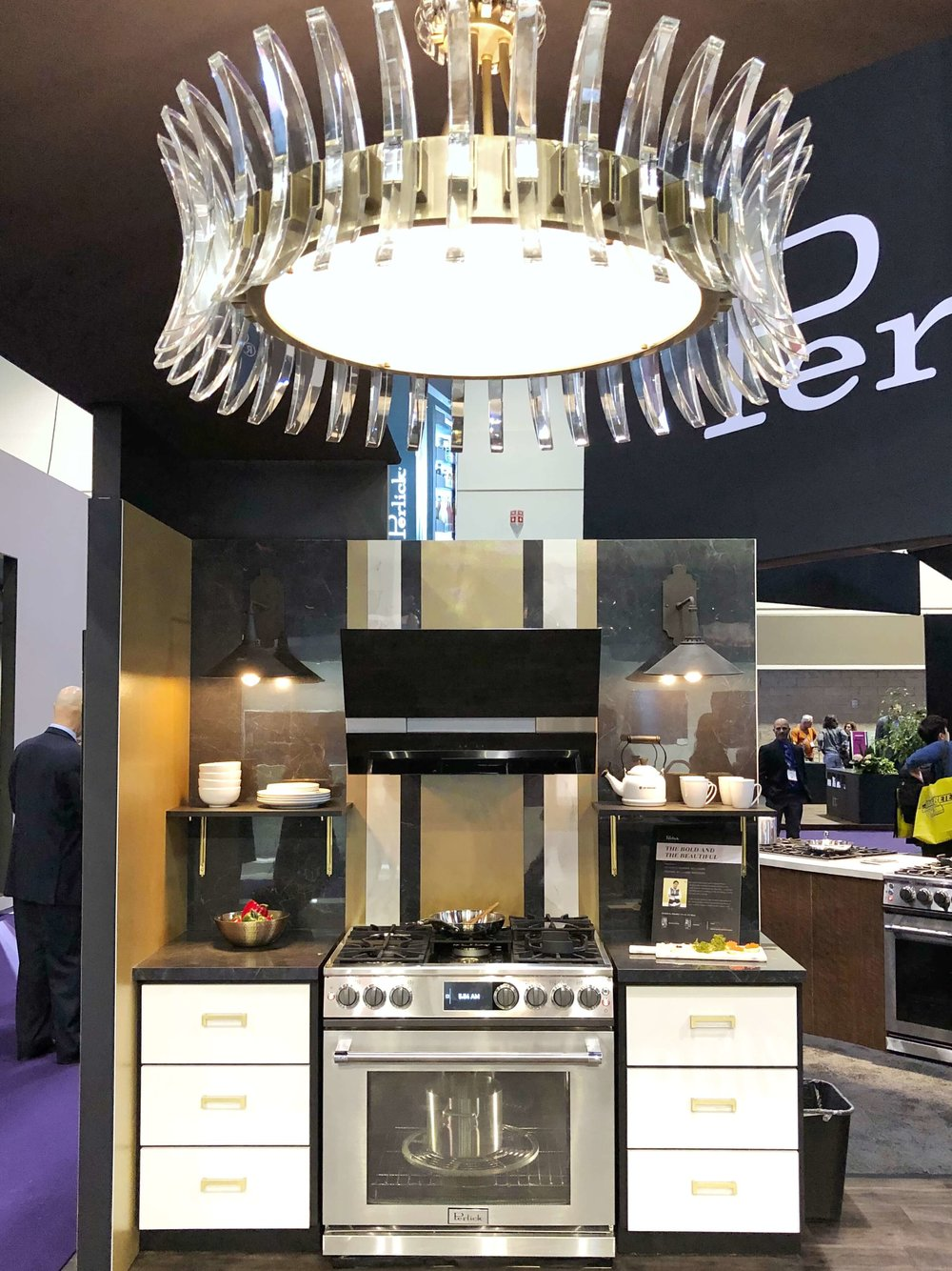 Perlick booth at KBIS2018 designed by Arianne Bellizaire #perlick #zephyrhood #kitchendesign