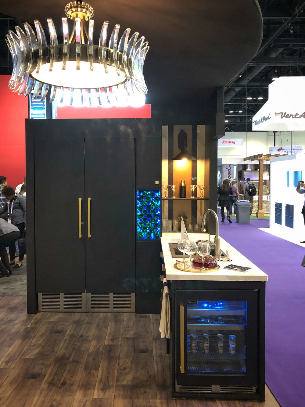 Refrigeration from Perlick at KBIS2018 w/booth designed by Arianne Bellizaire #perlick #kitchendesign