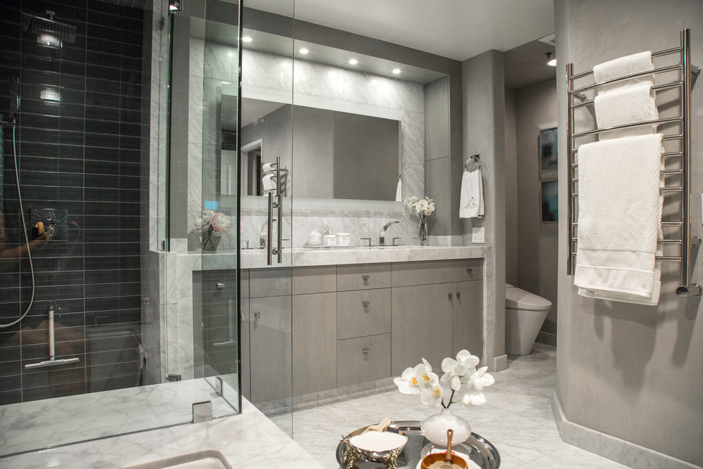Steam shower designed in luxury bathroom by Designer: Lori Gilder #steamshower #bathroomremodel