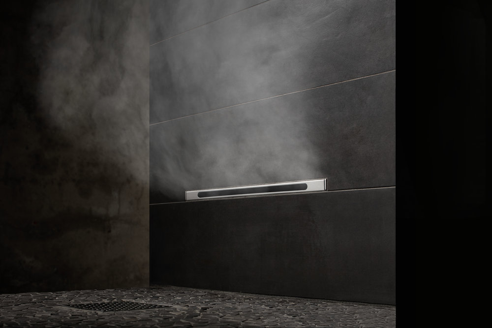 Mr. Steam steam shower, linear steamhead #steamshower