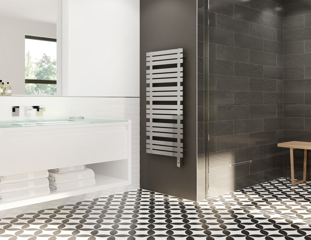 Towel warmer from Mr. Steam steamshowers #steamshower