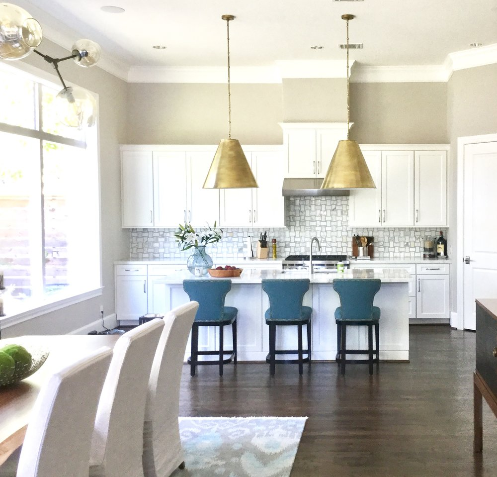 7 considerations for kitchen island pendant lighting selection large brass cone shaped kitchen island fixtures carla aston designer aloadofball Gallery
