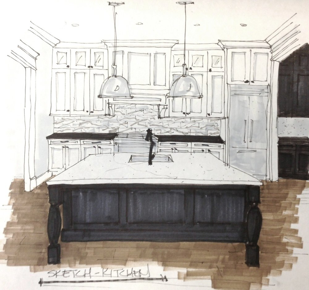 kitchen island pendant lighting contemporary kitchen remodel design concept sketch carla aston pendantlighting kitchenlighting considerations for island pendant lighting selection