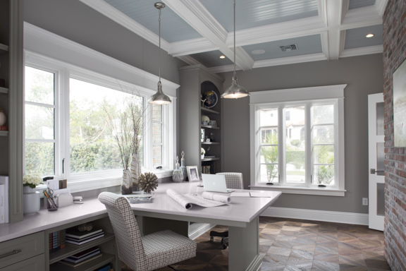 Home Office In The New American Remodel   Orlando, KBIS2018 #homeoffice  #study #