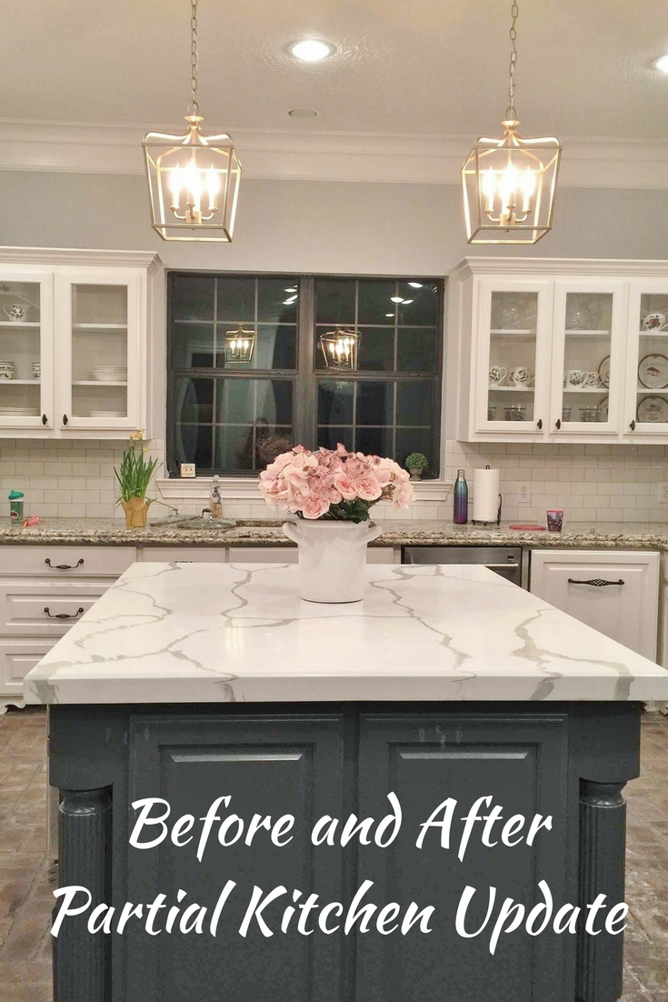 Before and After Partial Kitchen Update