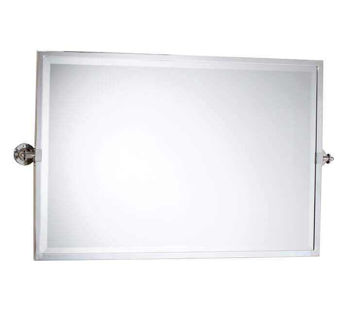 wide pivot bathroom mirror