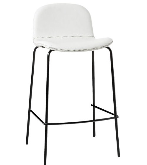 white leather contemporary counterstool