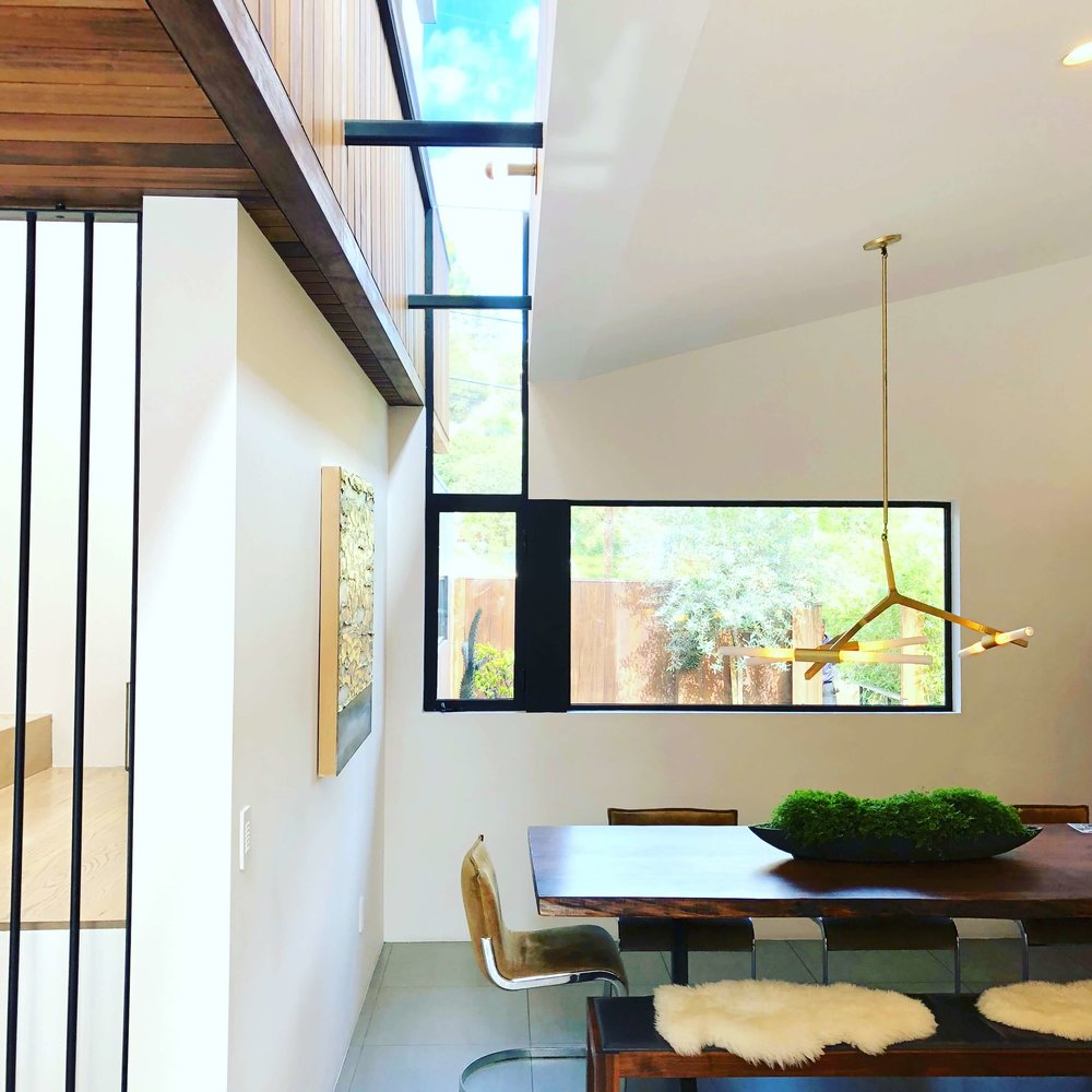 Contemporary window and skylight design - Assembledge+ Architects, Dwell on Design, Los Angeles, California #skylight #window #diningroom