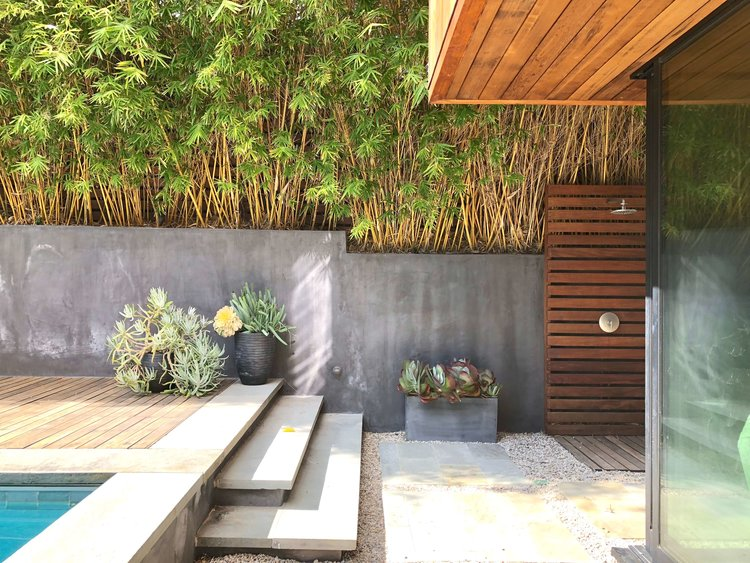 Exterior back garden - Assembledge+ Architects, Dwell on Design, Los Angeles, California #backyardideas #garden #retainingwall