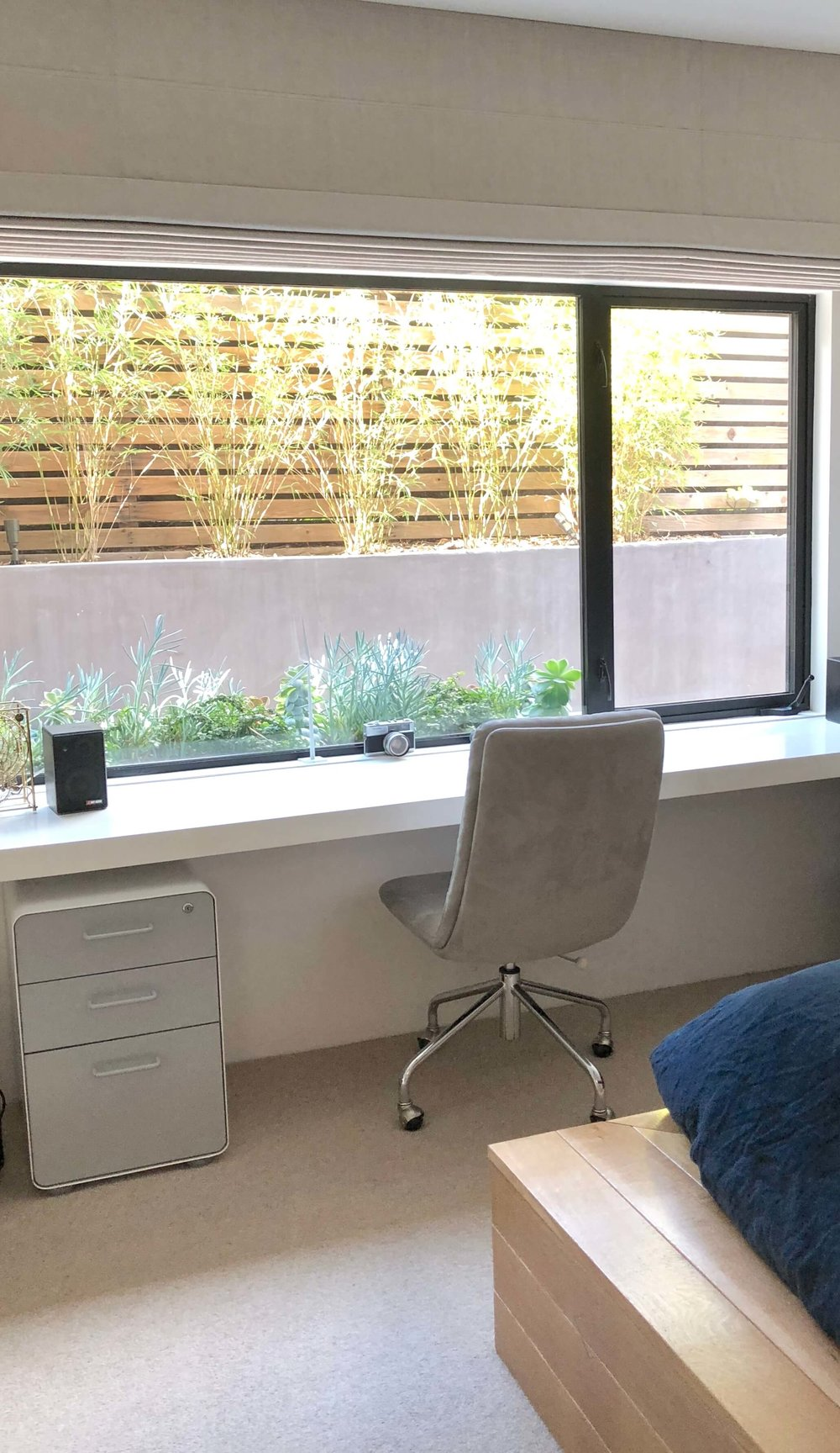 Built in desk at window | Assembledge+ Architects, Dwell on Design, Los Angeles, California #builtindesk #deskatwindow #studynook