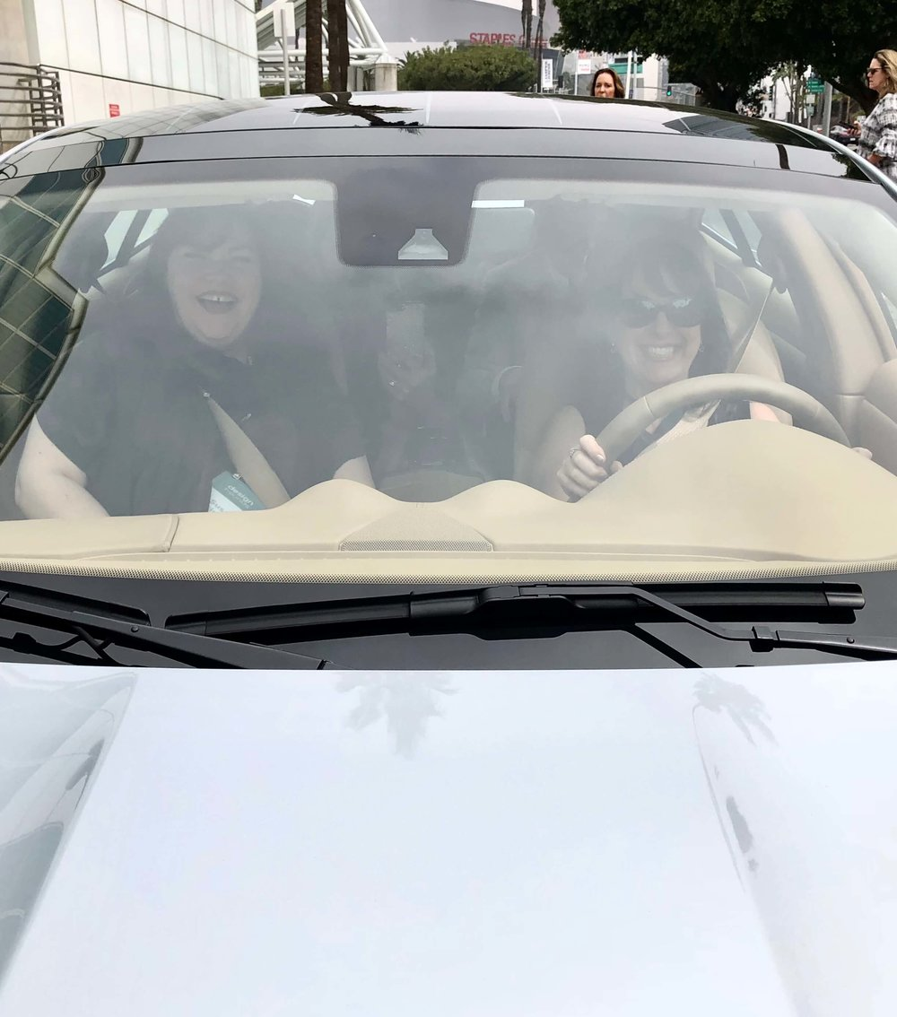 Claire Jefford  was behind the wheel of this car with  Susan Brinson  riding shotgun.  Look out downtown LA! Karma Automotive  #luxurycar #karmaautomotive