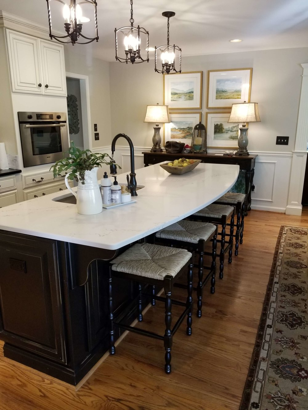 How A Simple Kitchen Island Countertop Change Can Totally