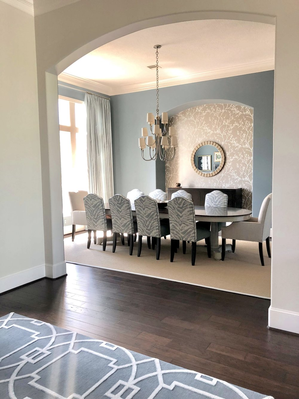 Whole House Project - Dining Room, Carla Aston - Designer #bluediningroom #diningroomideas