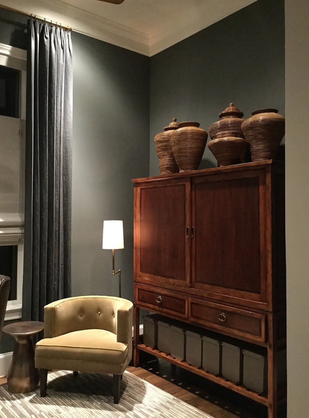 What gray paint color is best? Here are my favorites.....Sherwin Williams Roycroft Pewter was used in the masculine study