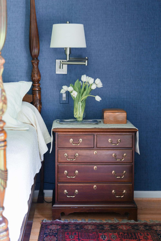 Americana style bedroom, Carla Aston: Designer, Tori Aston Photographer #redwhiteblueroom