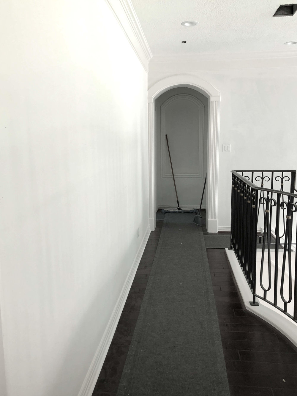 Remodel in progress - smooth, flat wall for gallery art