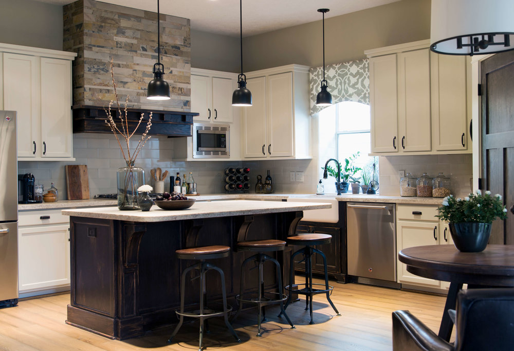 Kitchen Remodel With Honed Natural Stone Countertops And Subway Tile  Backsplash | Designer: Carla Aston