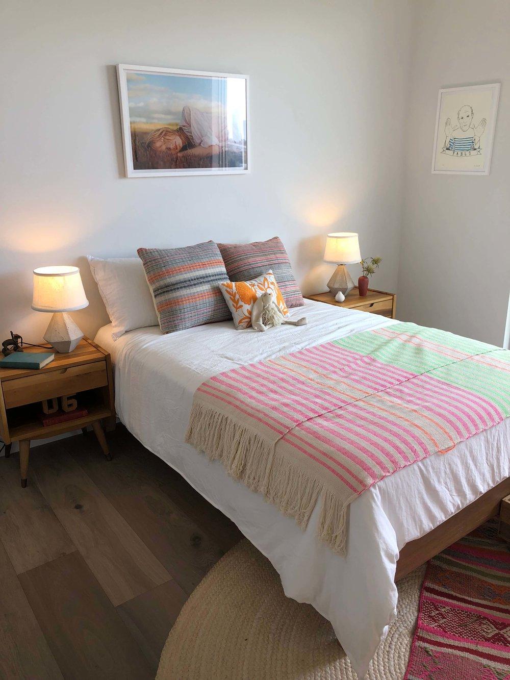 Girl's bedroom with a boho vibe | California home tour#girlbedroom
