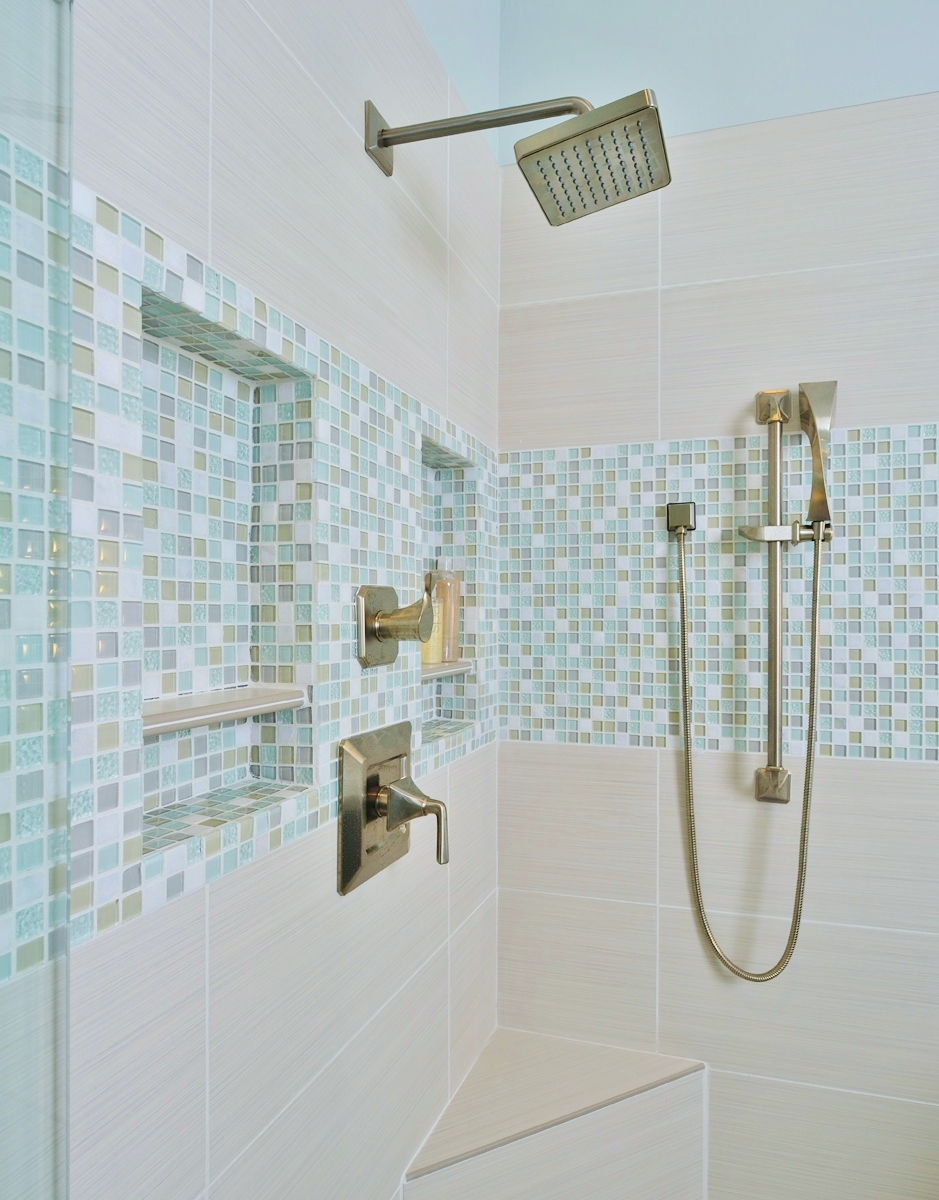 25 Beautiful Shower Niches For Your Beautiful Bath Products, Designer:  Carla Aston, Photographer