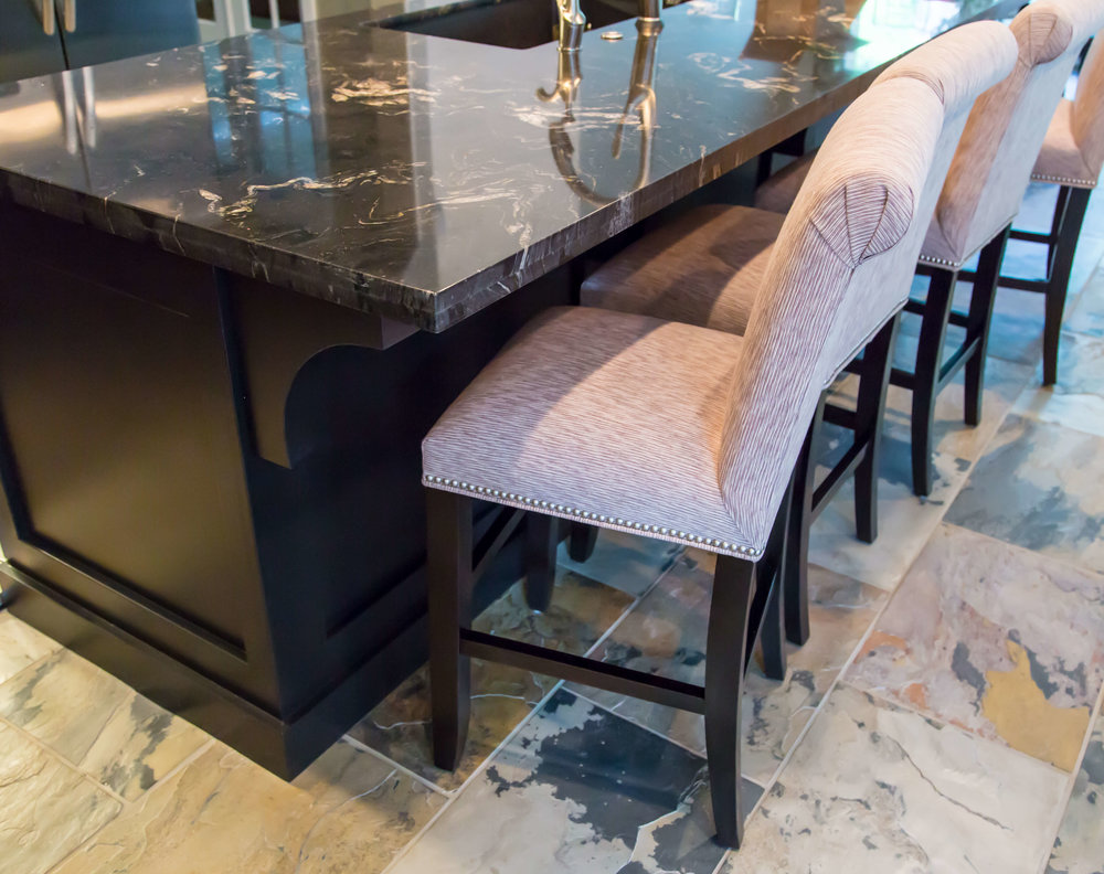 Custom barstools for kitchen remodel #barstools