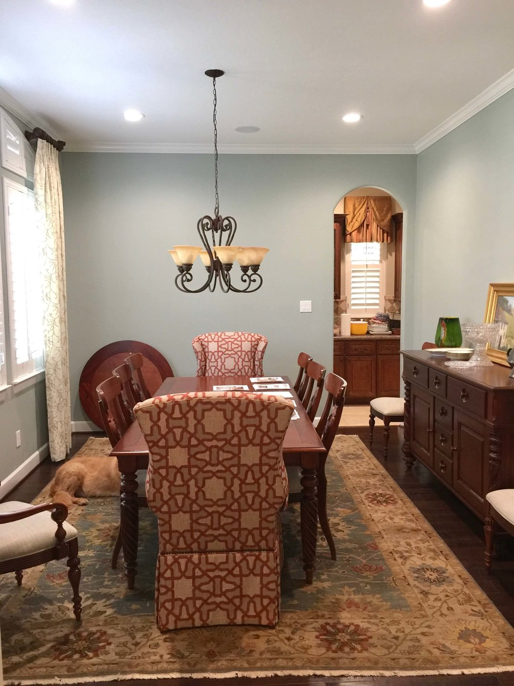 BEFORE - Dining room in warm tones