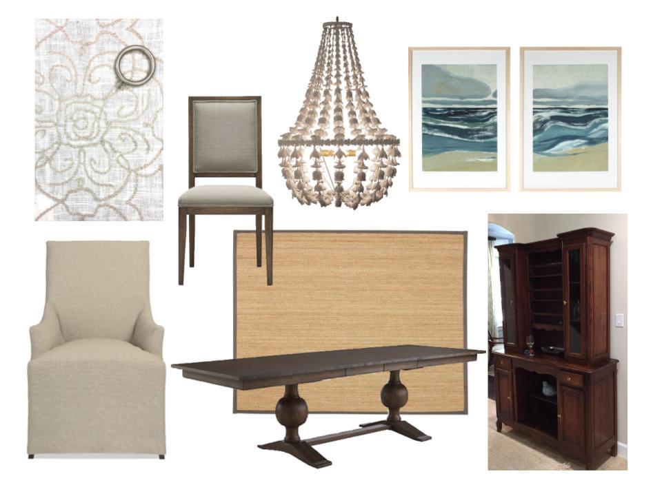 Coastal Dining Room Makeover - Carla Aston, Designer #diningroomideas #coastalstyle