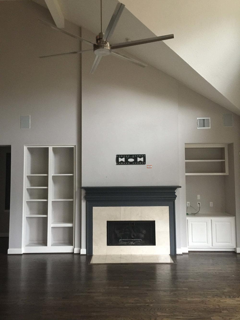 PROJECT SNEAK PEEKS | BEFORE - Fireplace Wall Remodel