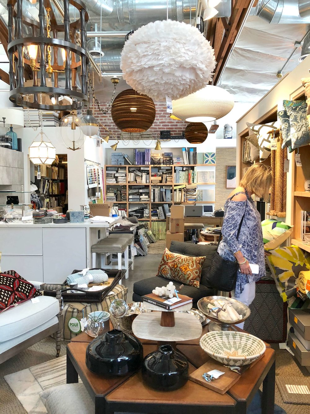 Cozy, Stylish, Chic home decor shop in Pasadena, CA, owned by Jeanne K. Chung, pictured is Deborah von Donop, DVD Interior Design, whom I combed the shop with after visiting the Pasadena Showcase House of Design